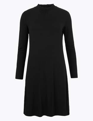 M&S CollectionMarks and Spencer Jersey Long Sleeve Knee Length Swing Dress