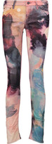 Mother The Looker Printed Cotton-Blend Corduroy Skinny Pants