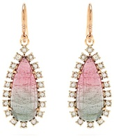 Irene Neuwirth Diamond, tourmaline & rose-gold earrings