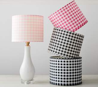 Pottery Barn Kids Gingham Shade - Light Pink