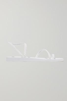 Ancient Greek Sandals Eleftheria Braided Rubber Sandals - White