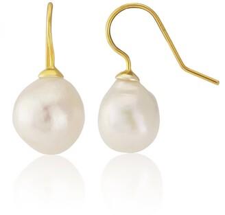 Auree Jewellery Triora Baroque White Pearl & Gold Vermeil Drop Earrings