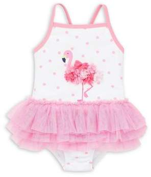 Little Me Baby Girl's One-Piece Tutu Swimsuit