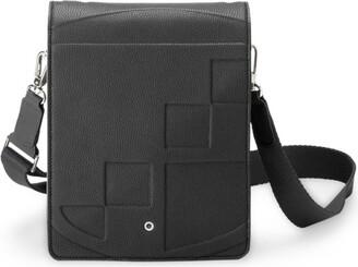 Graf Von Faber Castell Graf Von Faber-Castell Small Leather Cashmere Messenger Bag