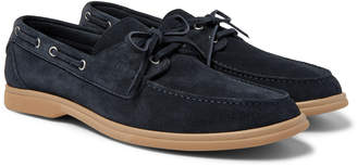 Brunello Cucinelli Suede Boat Shoes - Men - Blue