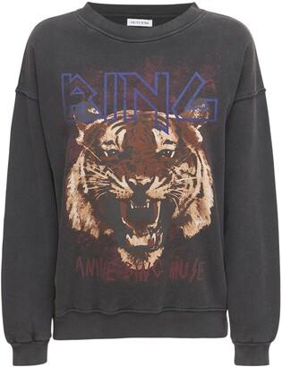 Tiger Printed Cotton Sweatshirt