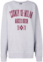 Marcelo Burlon County of Milan logo embroidered sweatshirt - women - Cotton/Polyester - XS