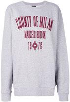 Marcelo Burlon County of Milan logo embroidered sweatshirt