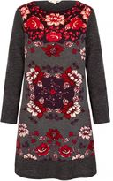Yumi Rose Printed Knitted Tunic Dress
