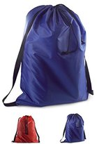 Brilliant Homes Backpack-Style Laundry Bag (Blue)