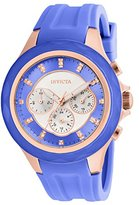 Invicta Women's 'Angel' Quartz Stainless Steel and Silicone Casual Watch, Color:Blue (Model: 22677)