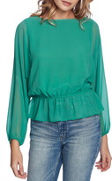 1 STATE 1.State Dolman Sleeve Peplum Blouse