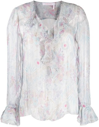 See by Chloe Floral-Print Chiffon Blouse