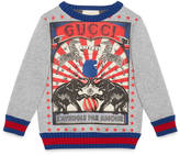 Gucci Children's circus print sweatshirt