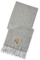 Polo Ralph Lauren Jockey Crest Wool Scarf