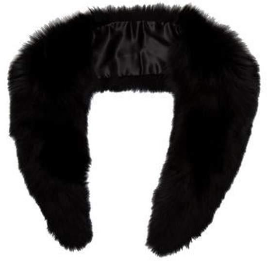 White Fur Stole >> Fox Fur Stole Black Fox Fur Stole