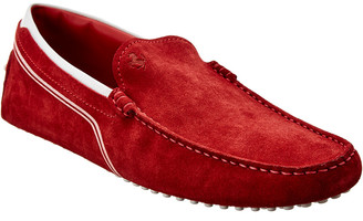 Tod's X Ferrari Gommino Suede & Leather Loafer