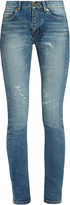 Saint Laurent Mid-rise distressed skinny jeans