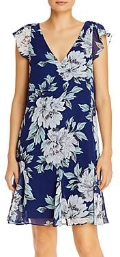 Adrianna Papell Floral Print Chiffon Dress