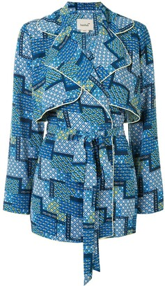 Bambah Patchwork Trench Dress