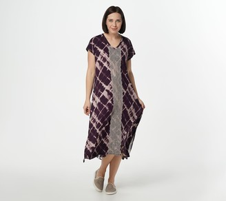 Logo by Lori Goldstein Rayon 230 Oversized Dress w/ Lace Front