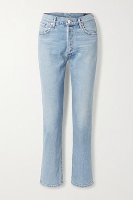 Gold Sign The Benefit High-rise Straight-leg Jeans - Light denim