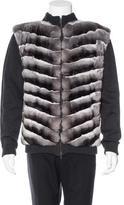 Roberto Cavalli Chinchilla-Trimmed Cardigan