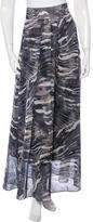 Torn By Ronny Kobo Abstract Print Midi Skirt