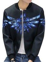 Uideazone Teen Boys Galaxy Jacket Hip Hop Sreetwear Hisper Coat Black