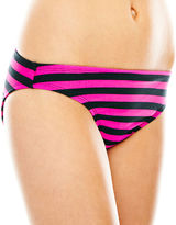Arizona Striped Cinched Hipster Swim Bottoms - Juniors