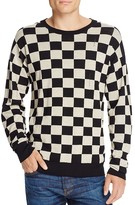 Marc Jacobs Broken Lines Wool Checkerboard Sweater