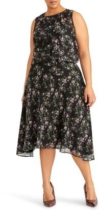 Rachel Roy Collection Floral Print Midi Dress (Plus Size)