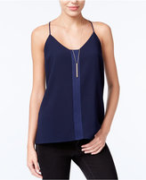 Bar III Satin-Detail Racerback Camisole, Only at Macy's