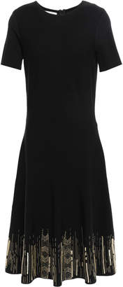Oscar de la Renta Embellished Knitted Dress