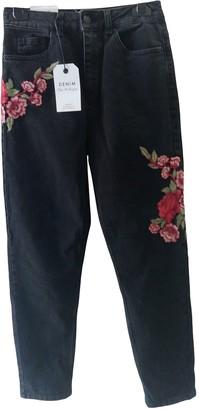 Miss Selfridge Black Cotton - elasthane Jeans for Women