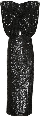 Magda Butrym Sequined Cut Out Midi Dress