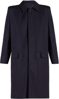 Balenciaga Structured-shoulder cotton trench coat