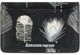 Alexander McQueen peacock feather card holder