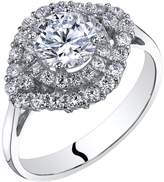 Ice 14k White Gold Engagement Ring 1.00 Carat Center Cluster Style