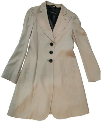 Emporio Armani Beige Cotton Coat for Women