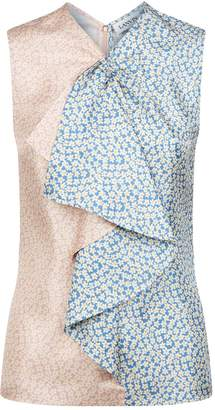 Lanvin Floral Sleeveless Blouse