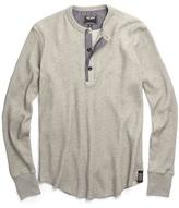 Todd Snyder Long Sleeve Thermal Henley in Oatmeal