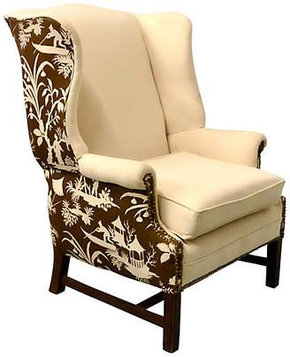 One Kings Lane Vintage Chinoiserie Wing Chair - Von Meyer Ltd.