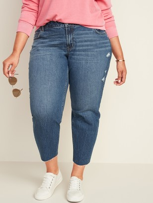 Old Navy Mid-Rise Boyfriend Straight Distressed Plus-Size Jeans