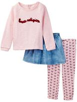 True Religion Raglan Sweater, Legging, & Skirt 3-Piece Set (Toddler Girls)