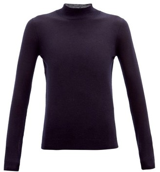 Joseph Cashair High-neck Cashmere Sweater - Navy