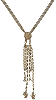 Etro Long Chain Necklace W/ Coin Detail