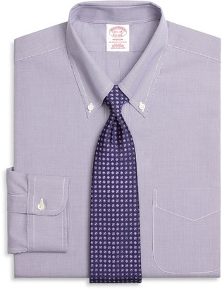 Brooks Brothers Madison Classic-Fit Dress Shirt, Non-Iron Houndstooth