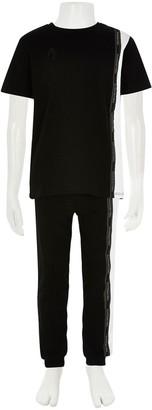 River Island Boys Maison 2 PieceT-Shirt and Jog Pants Set-Black