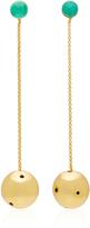 Paula Mendoza Viv 24K Gold-Plated Emerald Earrings